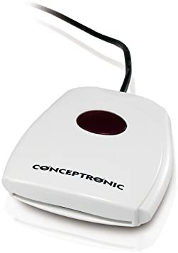Conceptronic PCS72007CSMARTID - Lector de DNI electrónico, Color Blanco: Amazon.es: Electrónica