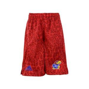 Kansas Jayhawks Adidas Youth Red Crazy Light Shorts (M)