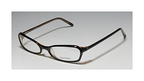 Vera Wang V104 WomensLadies Ophthalmic Spectacular Designer Full-rim EyeglassesSpectacles (53-17-135 Black  Tan)