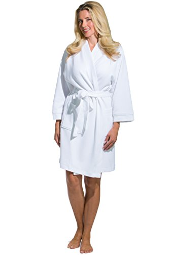 Fishers Finery Women's Resort Spa Robe Ultra Absorbent Medium (Texere Silk Robe)