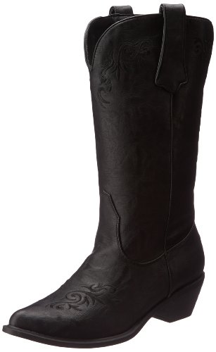 Roper Western Boots Womens Embroidery Black 09-021-1556-0734