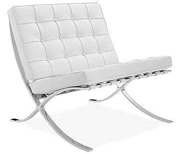 Grupo SDM Silla Sillon BARCINO, diseño, Piel Top Blanca ...