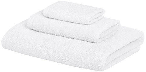 AmazonBasics Quick Dry 3 Piece Towel White