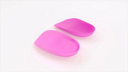 Heel That Pain Heel Seats Foot Orthotic Inserts - Heel Cups Cushions Insoles for Plantar Fasciitis, Heel Spurs, and Heel Pain, Pink, Large (Women's 10.5-13, Men's (Pink Insoles)