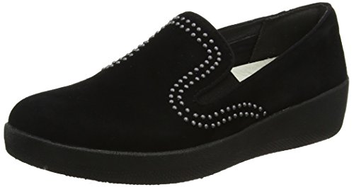 Studs SuperskateTM Suede fitflop Loafers Trade; with Black nz1xH4X5