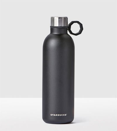 Starbucks Black Stainless Steel Water Bottle, 20 Fl Oz