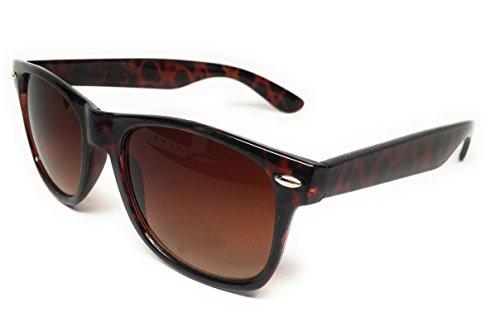 WebDeals Retro - Sunglasses Classic 80's Vintage Style Design Polarized or Standard Lens (Tortoise Brown, Brown Smoke)...]()
