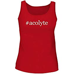 BH Cool Designs #Acolyte - Cute Women's Graphic Tank Top, Red, XX-Large