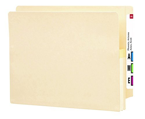 Smead End Tab File Pocket, Reinforced Straight-Cut Tab, 1-3/4 Expansion, Letter Size, Manila, 25 per Box (75114) by Smead