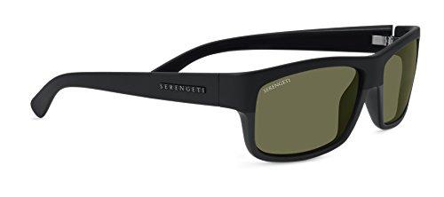 - Serengeti Martino Sunglasses, Shiny/Matte Black Frame, Polarized 555nm Lens