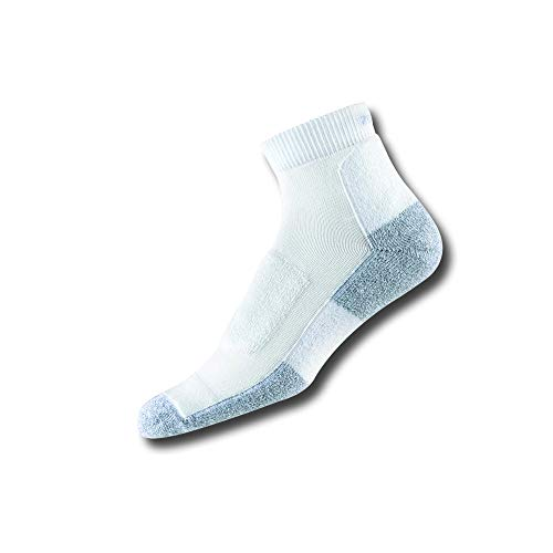 Thorlo Women's LWMXW Light Walking Padded Ankle Sock, White, - Coolmax Thorlo Mini