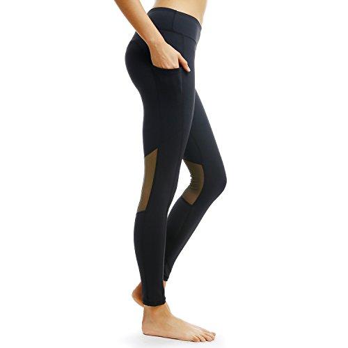 0748fdc4f5eb0 PERSIT Yoga Leggings with Pockets Fitness Leggings Gym Leggings High Waist for  Women Black Best Workout Pants for Women - Buy Online in Oman.