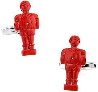 Gemelos de Camisa Muñeco Futbolin Rojo: Amazon.es: Ropa y accesorios