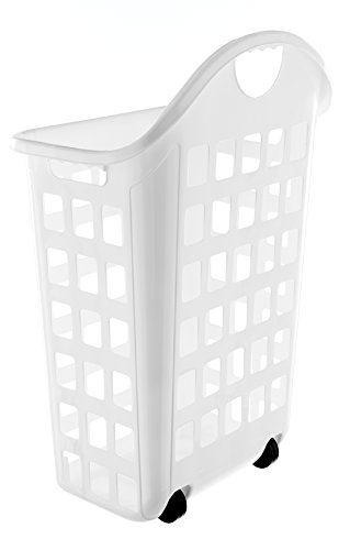 United Solutions LN0435 Rolling Hamper, 2 bushel, White (Laundry Hamper Wheels compare prices)