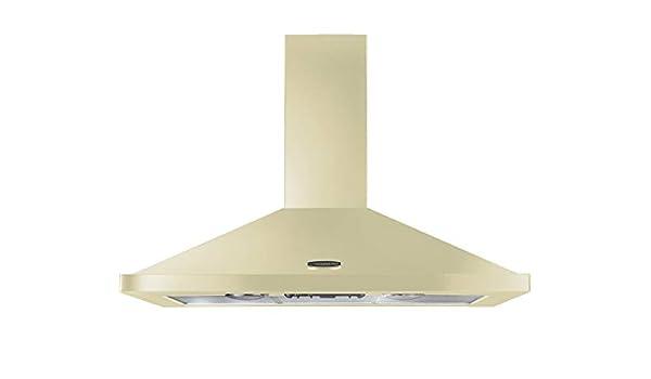 Rangemaster - Campana de cocina (110 cm), color crema y cromado: Amazon.es: Grandes electrodomésticos