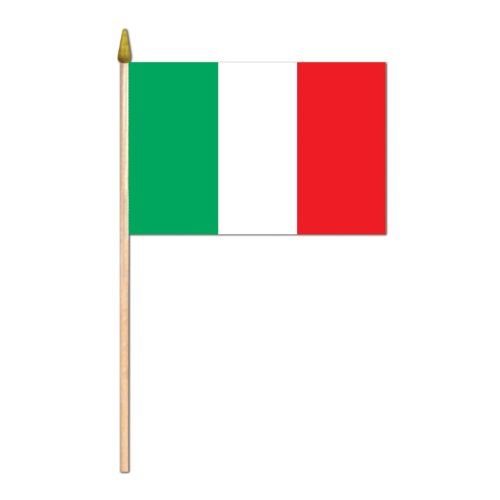 Beistle 57521 12-Pack Italian Rayon Flag, 4-Inch by