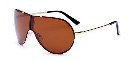 métallique style soleil en rond Tranche retro vintage polarisées inspirées de lunettes Lennon du B cercle de Thé zXxC5q7wP