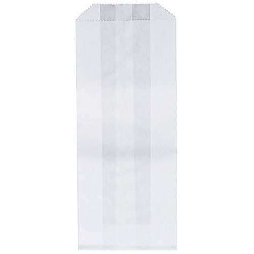 BonBon Paper Gusseted Glassine Bags Pack of 100 (3 x 1.5 x 6.75 in)