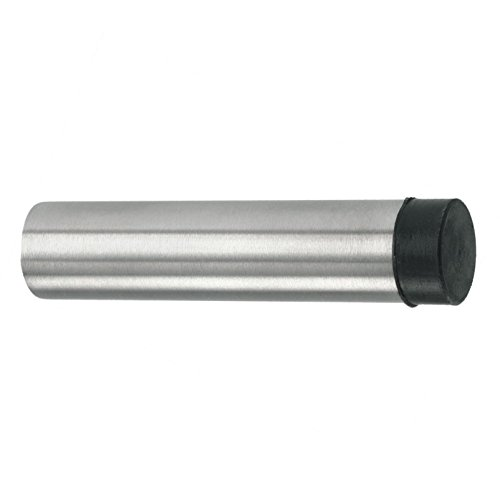 Polished Stainless Steel 74mm Projection Zoo Hardware Stainless Steel Concealed Fix Cylinder Pattern Wall//Skirting Mounted Door Stop without Rose