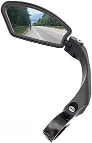 Hafny Handlebar Bike Mirror, Unbreakable Stainless Steel Lens, HF-MR080