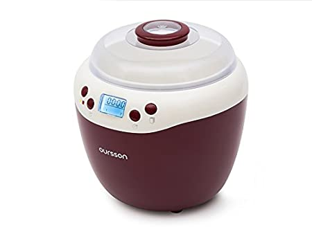 Oursson FE2103D/RD Yogurtera XL 2 en 1, Tarro de Cerámica, Control Digital, color Rojo, 1.8 L: Amazon.es: Hogar