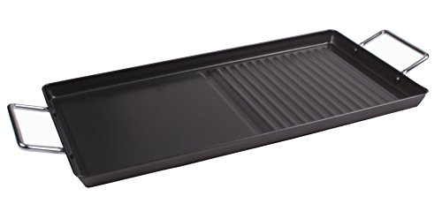 Double Burner Griddle Plate - 18 x 10 Griddle Grill Tray or Stove Top Griddle