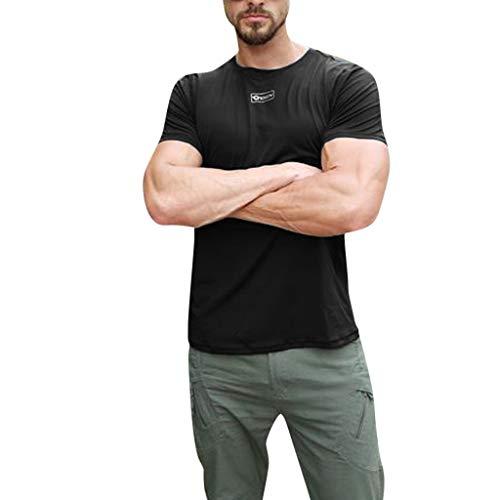Musculation Tops Amlaiworld Skin Hommes Rapide Manches Serré T Courtes shirt Blouse Noir Séchage Fitness 0nffErIYq
