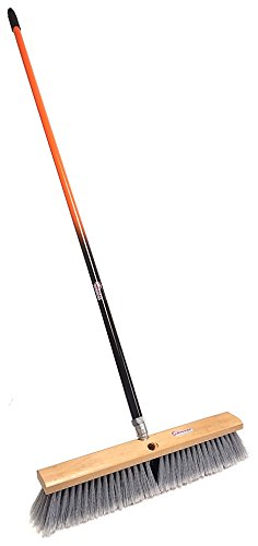 American Select Tubing PBSA18003 Smooth-Surface Push Broom with Orange/Black Handle, 18