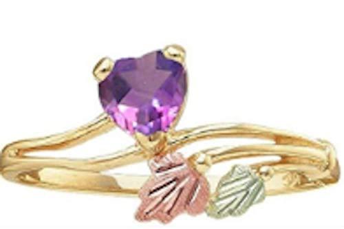 Black Hills Gold Amethyst Heart Ring (5)