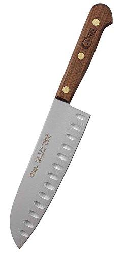 CASE XX Kitchen Cutlery Walnut Wood Santoku Stainless Knife