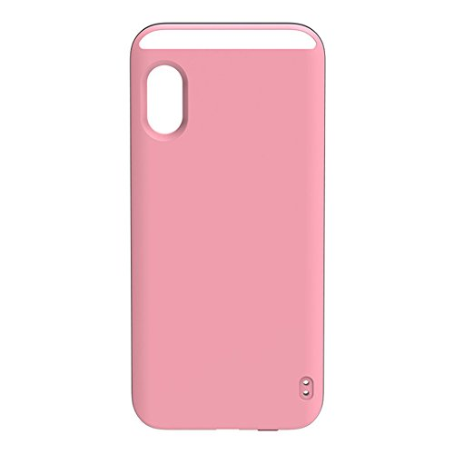 Selfie Light iPhone X Case, Alotm LED Illuminated Phone Case for iPhone X (5.8inch), Rechargeable, LED Light Up Luminous Phone Cover with Soft Lights for Great Selfie & Make up ()
