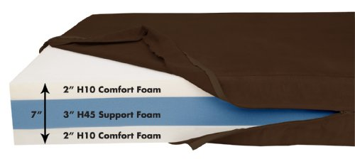 Big Barker 7'' Pillow Top Orthopedic Dog Bed - Large Size - 48 X 30 X 7 - Chocolate - For Large and Extra Large Breed Dogs (Sleek Edition) by Big Barker (Image #2)