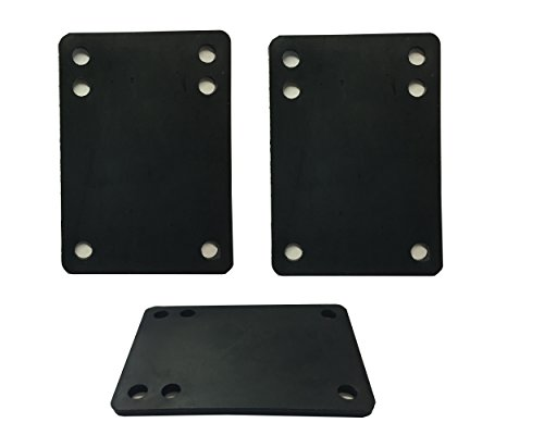 Vj skateshop Longboard Skateboard Riser Pads, Rubber, Set of 2, size 3mm (1/8