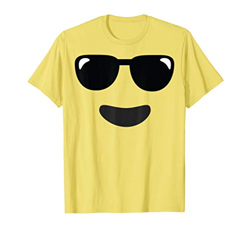 Group Halloween Costume 2019 (Sunglasses Cool Face Emoji Easy Lazy Group Halloween Costume)