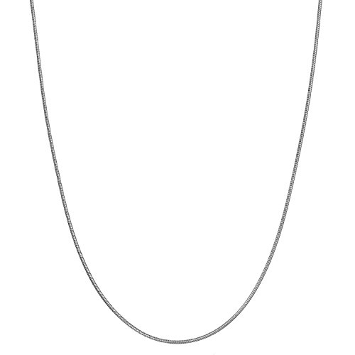 Sterling Silver .9mm Thin Italian Snake Chain Necklace - (Shiny Snake Chain)