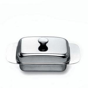 stainless butter dish & lid by alessi by Alessi