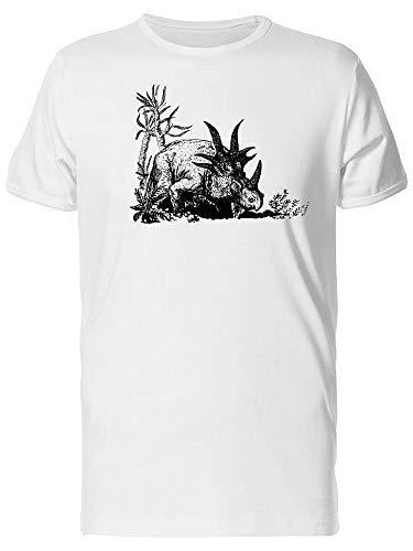 Dino Styracosaurus Sketch Tee Men's -Image by Shutterstock from Teeblox