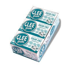 Peppermint Sugar Free Sugar - Glee Gum Sugar-Free Refresh Mint Pack of 12