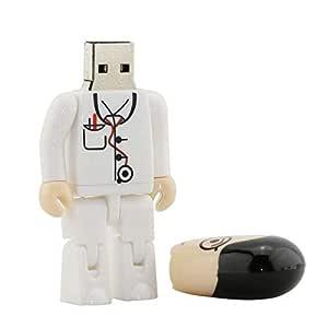 4GB Blanco médicos modelo memoria Stick pendrive unidad flash USB ...