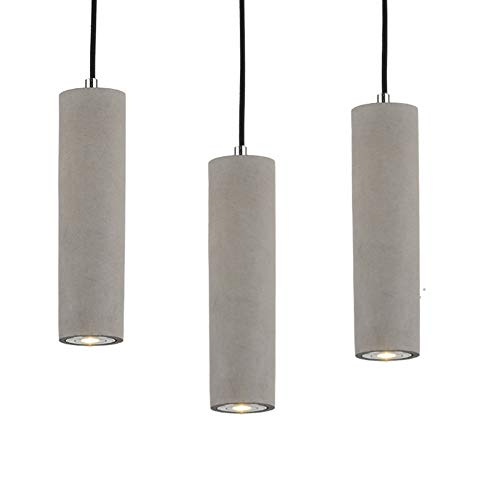 """Hanging Pendant Lights LED Lighting lamp Kitchen Island Ceiling Light Shade Concrete Cement Fixtures Industrial Decor for Dining Room Coffee Club Resturant Bar Living Room (7x50cm / 2.7x19.6"""")"""