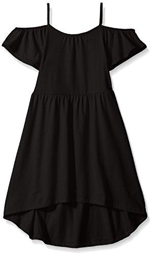 The Children's Place Toddler Girls' Cold Shoulder Casual Dresses, Black 2101, M (Black Kids Dress)