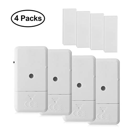 (Window Door Alarms, Toeeson 110 DB Pool Door Alarms, Magnet Triggered Mini Home Security Alarms )