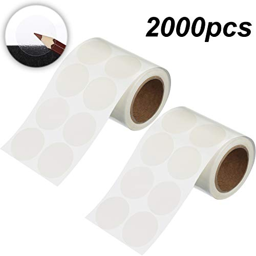 2000 Pieces 1 Inch Clear Wafer Seals, Round Wafer Seals, Round Circle Wafer Seal Labels, 1000 Labels Per Roll, 2 Rolls in Total
