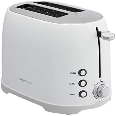 Amazon Basics 2-Slot Toaster, White