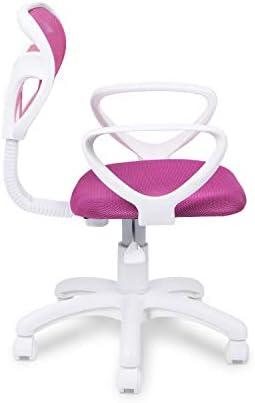Adec - Touch, Silla de Escritorio giratoria, Silla Juvenil de Oficina, Color Rosa, Medidas: 54 cm (Ancho) x 54 cm (Fondo) x 93-105 cm (Alto) 24