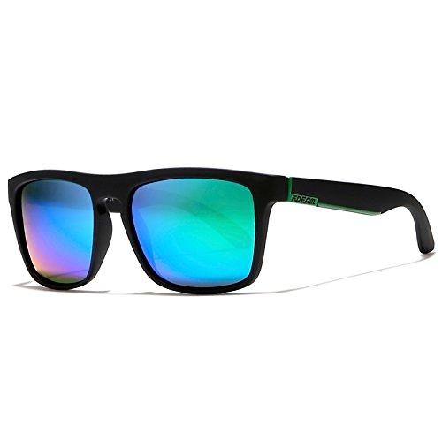 Matte Green hombre Black sol de KDEAM para Verde M Lens Gafas wnnPB8qg