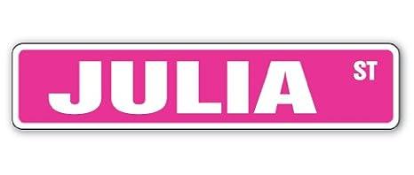 Amazon.com: Letrero para habitación de Julia Street con ...