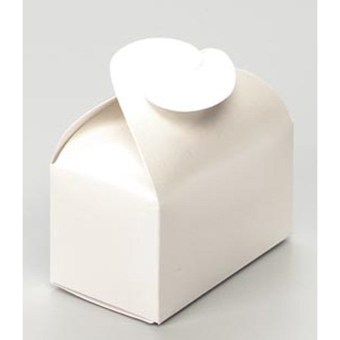 - 72 WING TOP BOX PEARL WHITE Wedding Favor Boxes