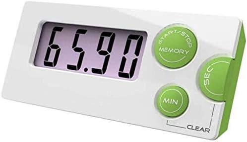 壁掛け 時計 キッチンタイマー キッチンタイマー調理電子タイマー大画面液晶デジタルキッチンタイマーのカウントダウン時計目覚まし時計4本 (Color, Blue, Size, 85x44x18mm),Green,85x44x18mm