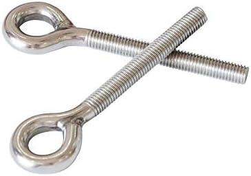 Screw 10PCS//LOT M4 M5 M6 M8 M10 M12 M16 304 Stainless Steel Lifting Eye Bolts Round Ring Screw Bolt Size: 10PCS x M6